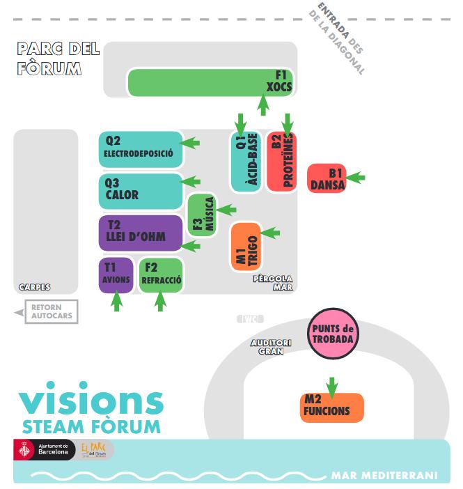 mapa activitats forum